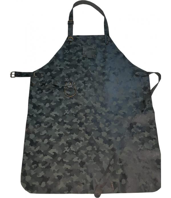 hakiki deri önlük kamuflaj desen leather apron